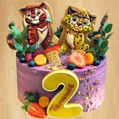 Торт цифра 2 для девочки