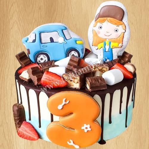 Торт на 3 года девочке