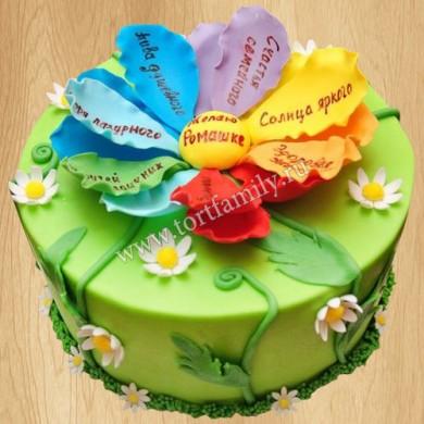 Торт с волшебным цветком