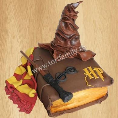 Торт книга и волшебная шляпа Гарри Поттера