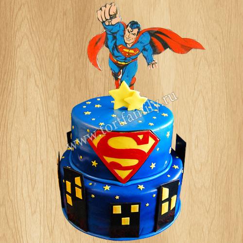 Торт с фигуркой Супермена
