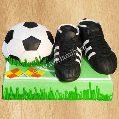 Торт бутсы и мяч