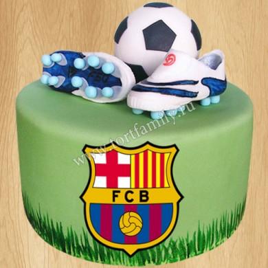 Торт для болельщика Барселоны