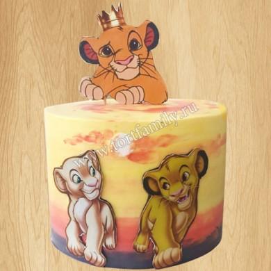 Торт лев Симба и львица Нала