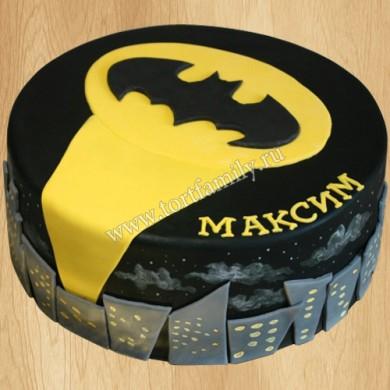 Торт значок Бэтмена