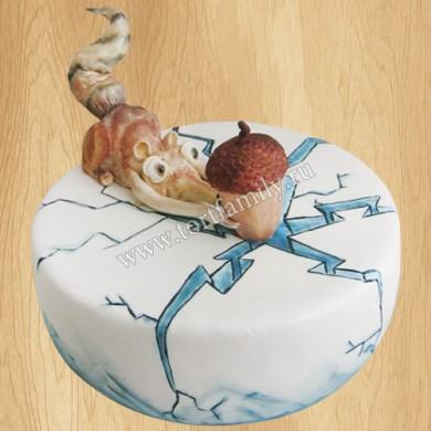 Торт Белка Скрат и желудь