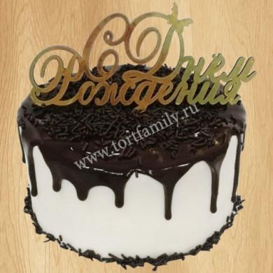 Торт с шоколадным мороженым