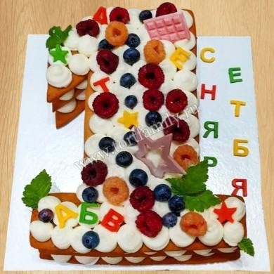 Торт цифра на 1 сентября первокласснику