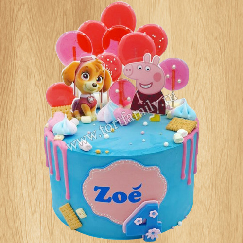Торт машинка Свинки Пеппы