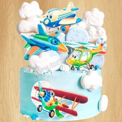 Торт с самолетами
