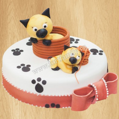 Торт с котами для девочки