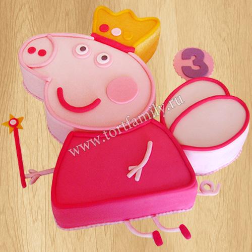 Торт в виде Свинки Пеппы