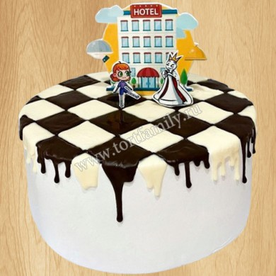 Торт шахматы для мальчика