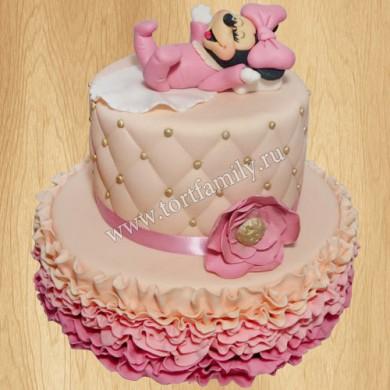 Торт на день рождения с Микки Маусом