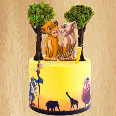 Торт Король Лев на годик