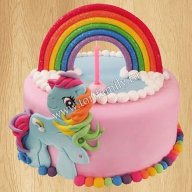 Торт радужный пони