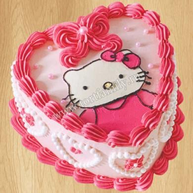 Розовый торт с бабочками