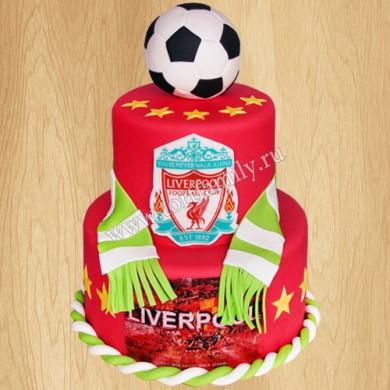 Торт с символикой Liverpool