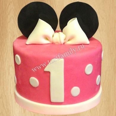 Торт Минни Маус на 1 год