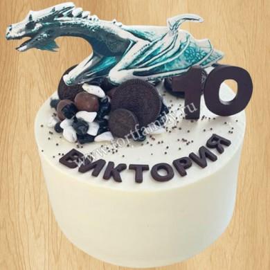 Торт детский драконы