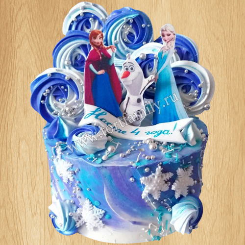 Торт Холодное сердце на Новый год