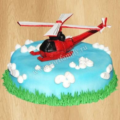 Торт с вертолетом Robinson R44