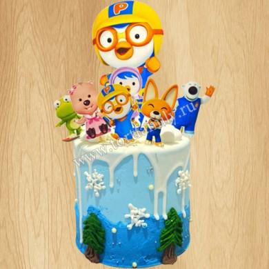 Торт с пингвиненком Пороро