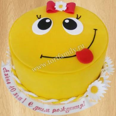 Торт смайлик для девочки