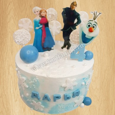 Кремовый новогодний торт