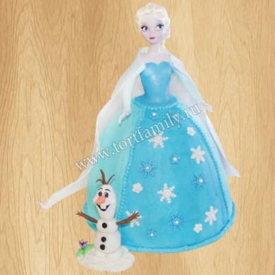 Торт королева Эльза