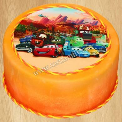 Торт на день рождения Тачки