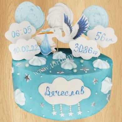Детский торт с метриками