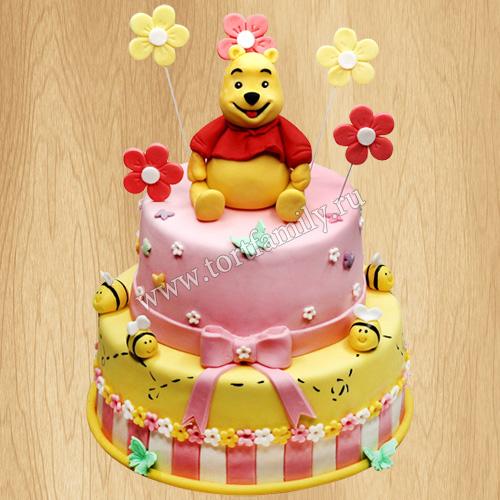 Торт мишка Винни Пух