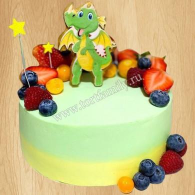 Торт с драконом на день рождения
