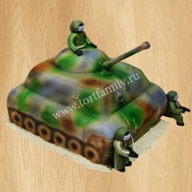 Торт в форме танка