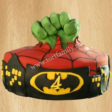 Торт Бэтмен на 4 года