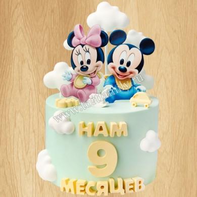 Торт Микки и Минни Маус
