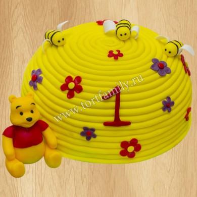 Детский торт с Винни Пухом