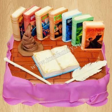 Торт с книгами о Гарри Поттере