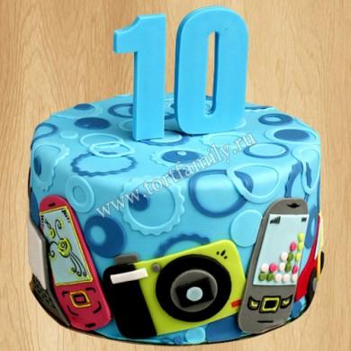 Торт с телефонами для ребенка