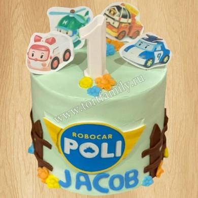 Торт станция для с Робокаров