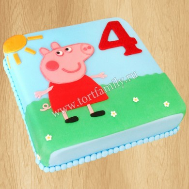 Торт на 4 года девочке