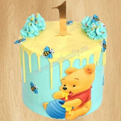Торт на годик Винни Пух