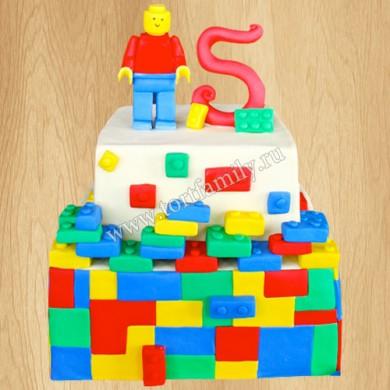 Торт на тему Лего