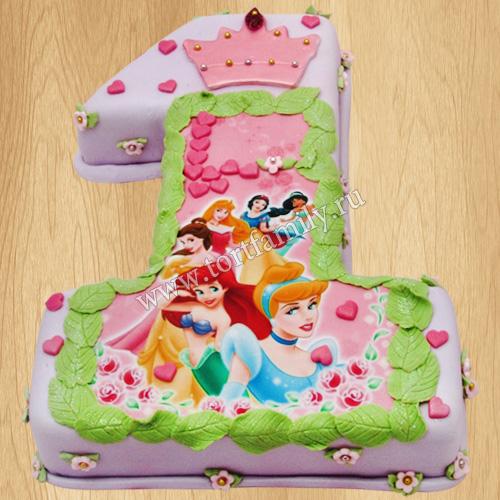 Торт в виде единички девочке