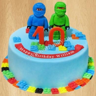 Торт Лего на 10 лет
