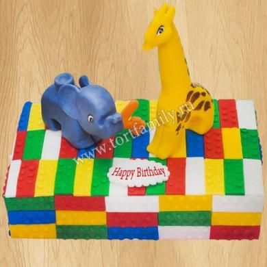 Торт Лего для девочки