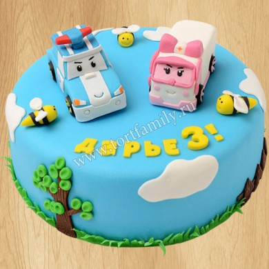 Торт Робокар Поли для девочки