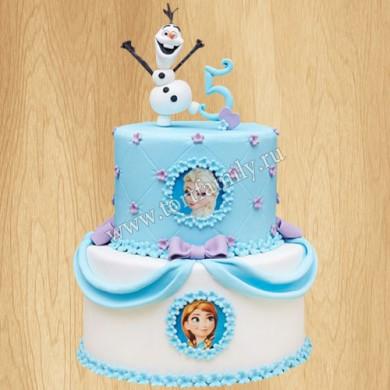 Торт на 5 лет Холодное сердце