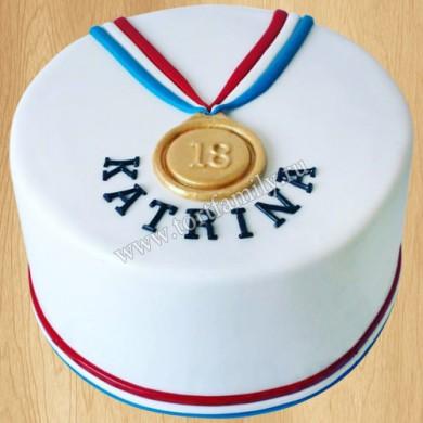 Торт медаль для девочки